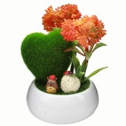 Cute Artificial Plant with Cartoon Character for Decoration and Gift